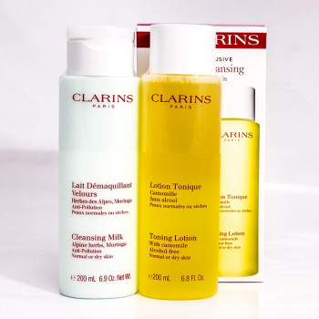 Clarins SET clarifying milk+water